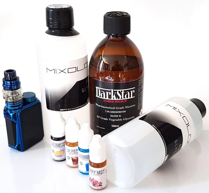 DIY e liquid mixing ingredients
