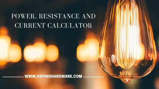 Power, resistance and current calculator