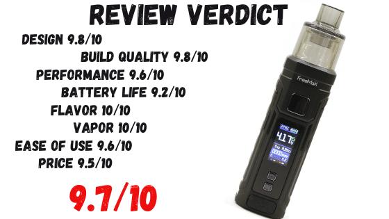 Marvos 60W Pod Kit Review Verdict