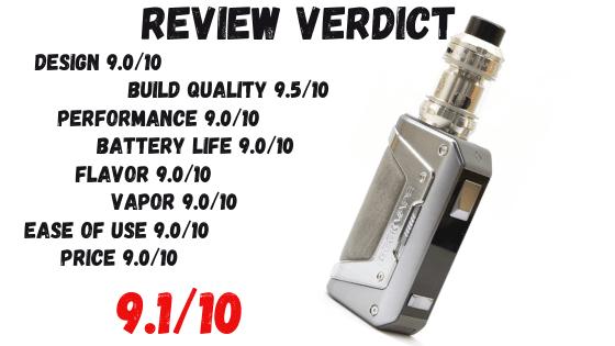 Geekvape L200 Mod Kit Review Verdict