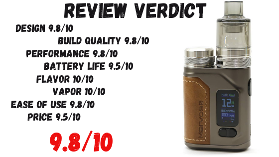 Marvos S 80W Kit Review Verdict