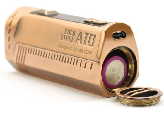 Cold Steel AIO Branding and Battery View